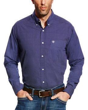 Ariat Men's Elliot Print Button Down Shirt, Blue, hi-res