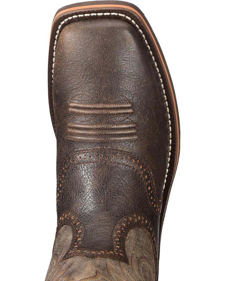 Ariat Men's Brown Heritage Roughstock Western Boots - Square Toe , Brown, hi-res