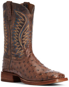 Ariat Men's Gallup Mocha Western Boots - Wide Square Toe, Brown, hi-res