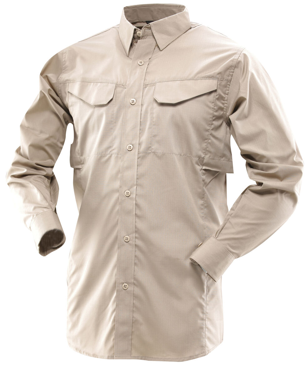 Tru-Spec Men's 24-7 Ultralite Long Sleeve Field Shirt, Khaki, hi-res