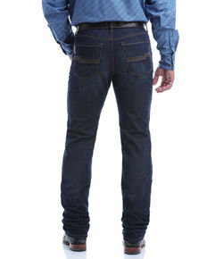 Cinch Men's Jesse Performance Denim Dark Stretch Slim Straight Jeans , Indigo, hi-res