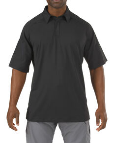 5.11 Tactical Rapid Performance Short Sleeve Polo Shirt - 3XL, Black, hi-res