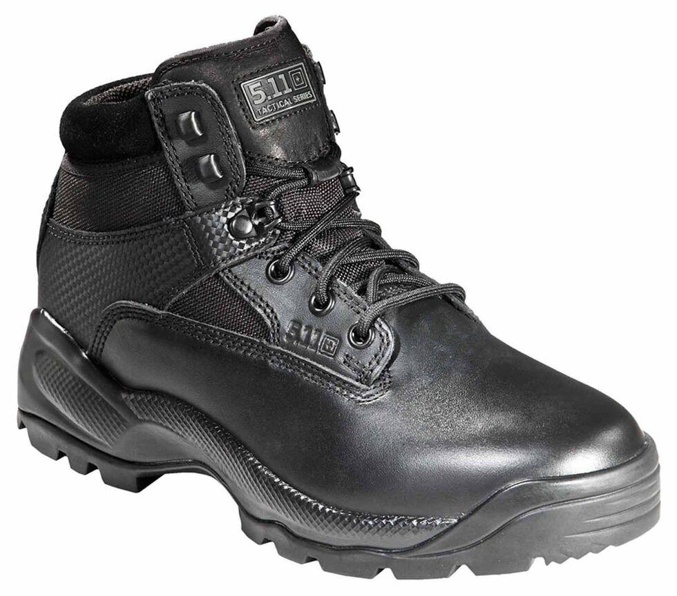 """5.11 Tactical Men's A.T.A.C. 6"""" Side-Zip Boots - Round Toe, Black, hi-res"""