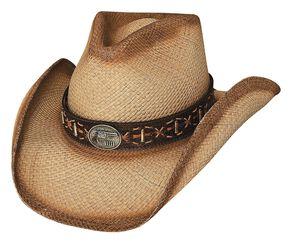 Bullhide Left Handed Gun Panama Straw Cowboy Hat, Natural, hi-res