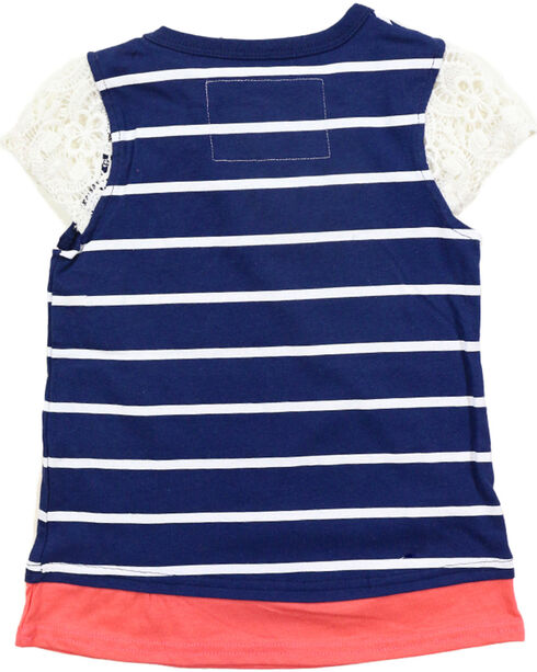 Farm Girl Toddler Girls' Navy Floral Heart Cap Sleeve Top , Navy, hi-res