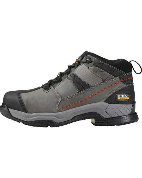 Ariat Men's Grey Contender Work Boots - Steel Toe , Grey, hi-res