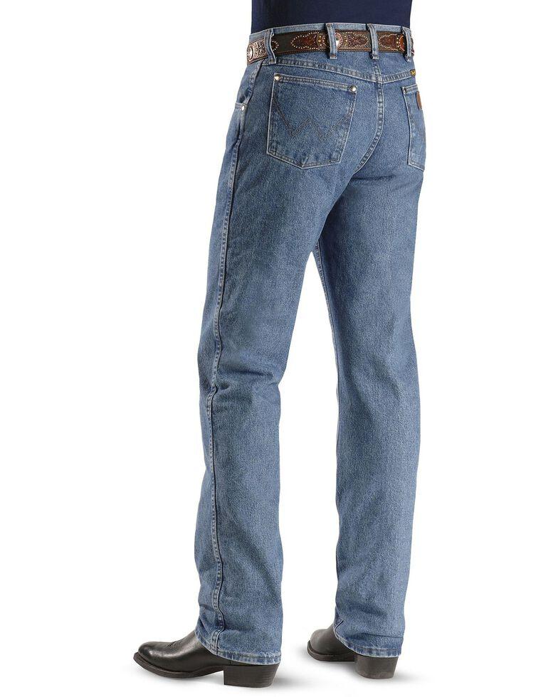 Wrangler Men's 47MWZ Premium Performance Cowboy Cut Regular Fit Prewashed Jeans, Stonewash, hi-res