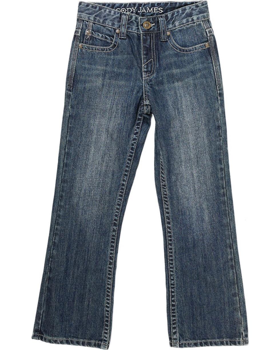 Cody James® Big Boys' Dusty Trail Boot Cut Jeans, Blue, hi-res