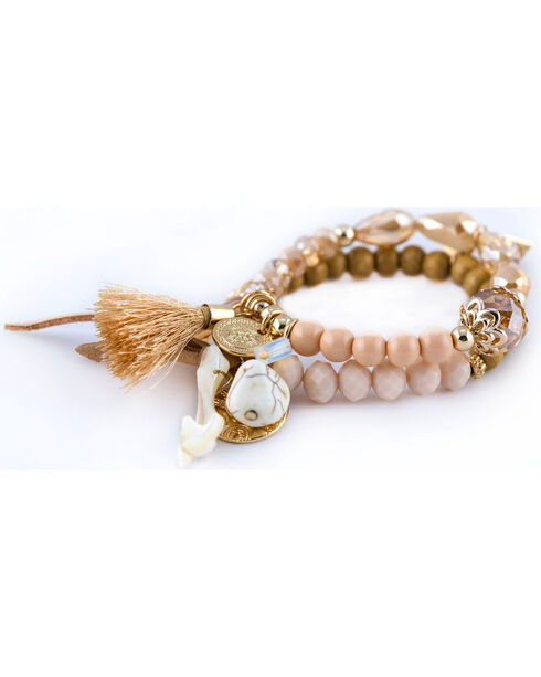 Sincerely Mary Women's Gaia Beaded Tassel Bracelet, No Color, hi-res