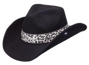 Peter Grimm Arrow Felt Cowgirl Hat, Black, hi-res