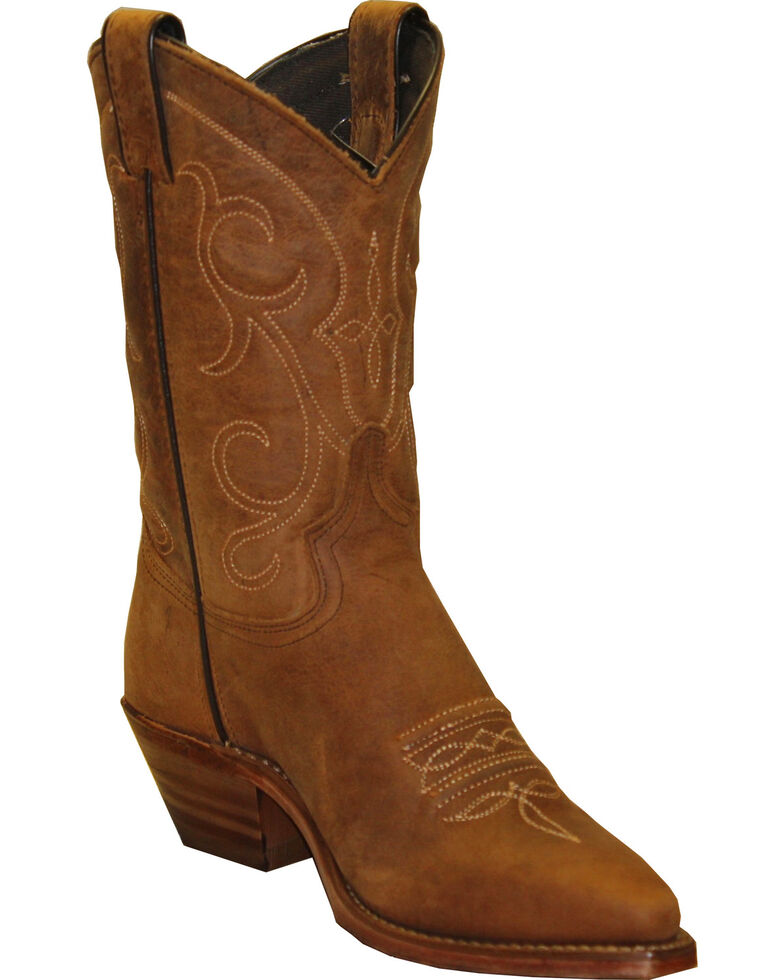 Abilene Boots Women's Soft Textured Western Boots - Snip Toe, Tan, hi-res