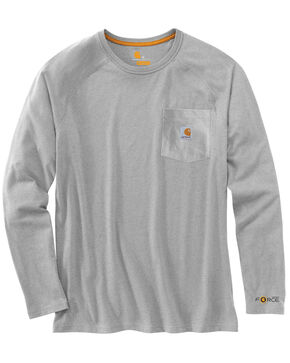 Carhartt Force Long Sleeve Work Shirt, Grey, hi-res