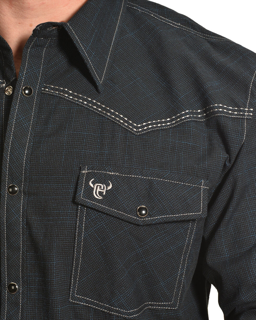 Cowboy Hardware Men's Navy Burlap Western Shirt , Navy, hi-res
