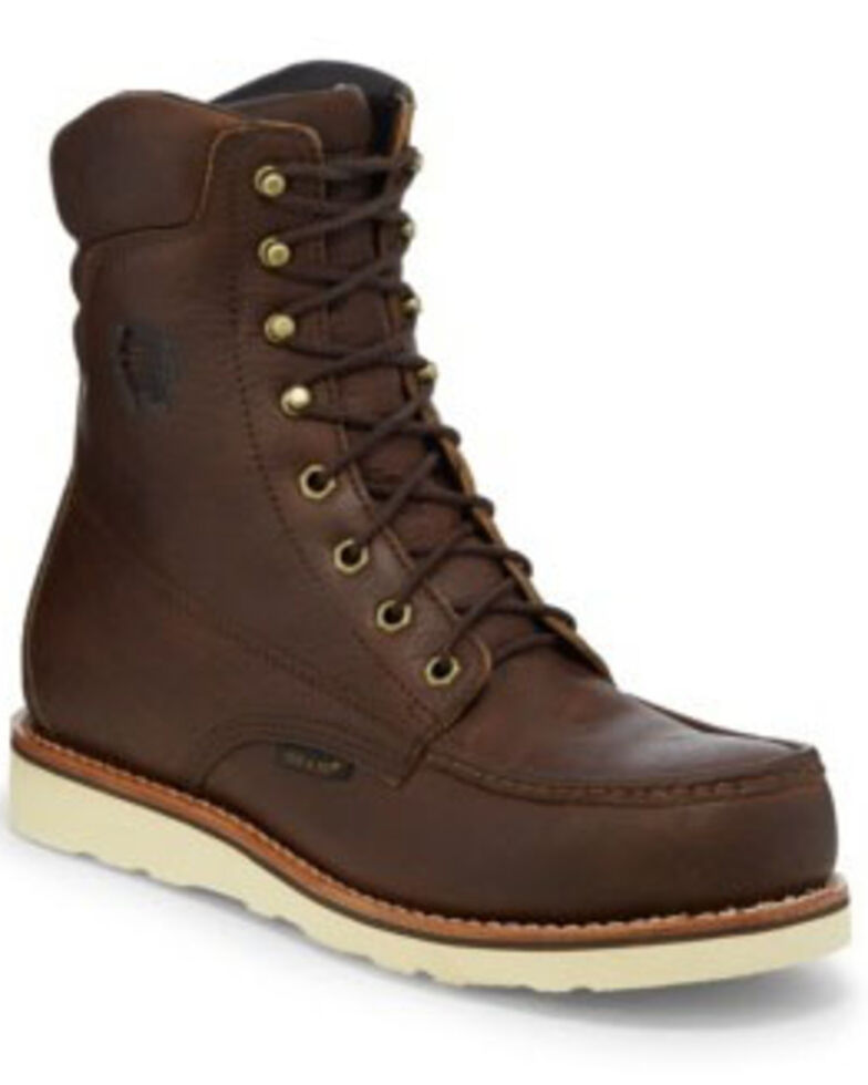 Chippewa Men's Edge Walker Waterproof Work Boots - Composite Toe, Brown, hi-res
