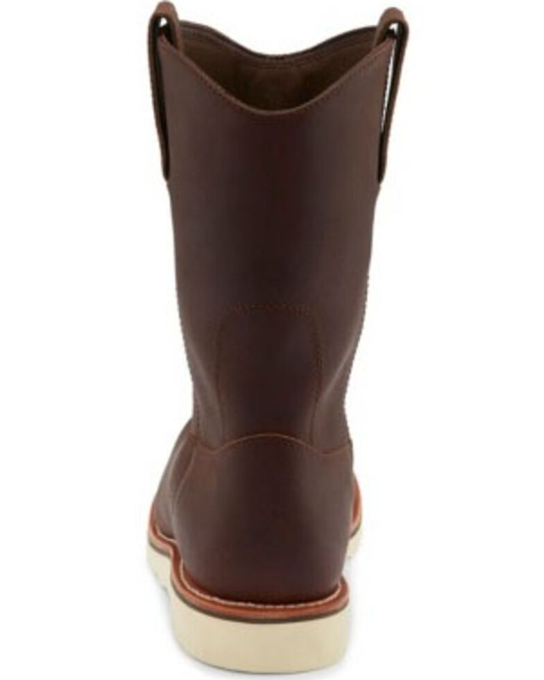 Chippewa Men's Edge Walker Waterproof Western Work Boots - Soft Toe, Brown, hi-res