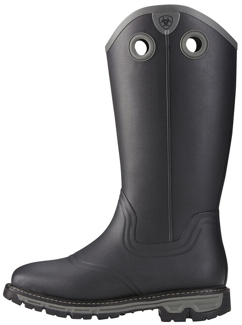 Ariat Men's Black Conquest Insulated Rubber Boots - Square Toe , , hi-res