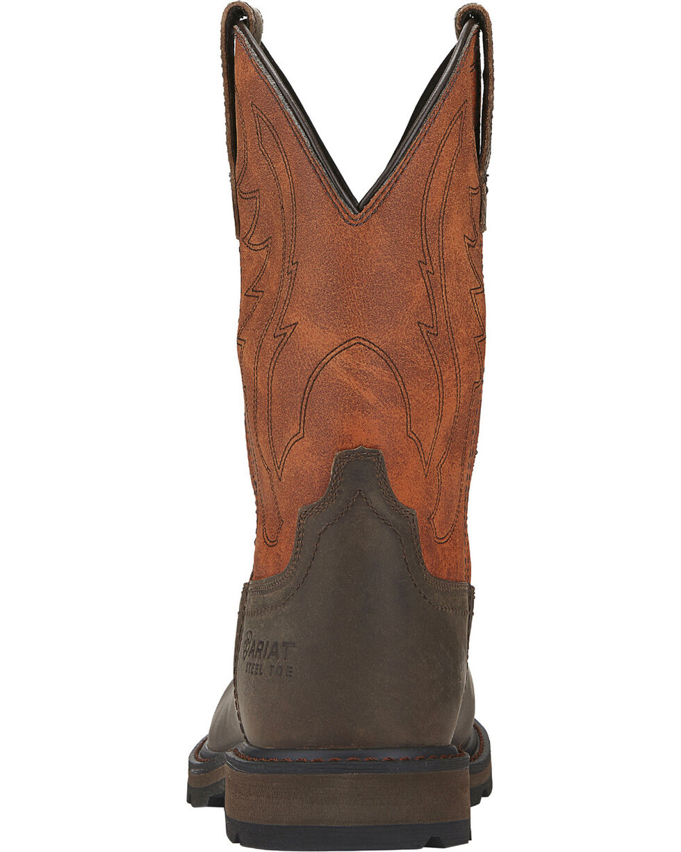 Ariat Groundbreaker Work Boots - Steel Toe, Brown, hi-res
