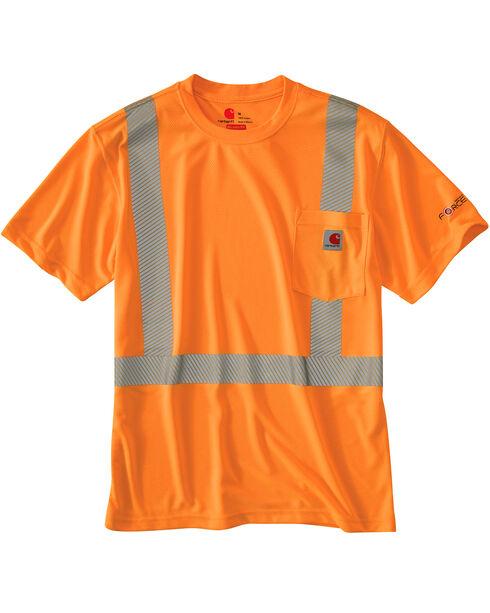 Carhartt Force High-Viz Short Sleeve Class 2 T-Shirt, Orange, hi-res