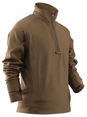 Tru-Spec 24-7 Grid Fleece Jacket, Coyote Brown, hi-res
