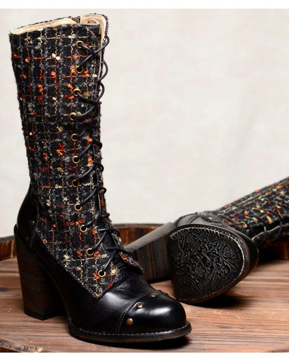 Oak Tree Farms Alice Black Boots - Round Toe, Black, hi-res