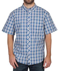 d4d36a02fbedf Cody James Mens Button Down Plaid Short Sleeve Shirt