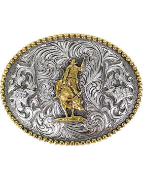 Cody James Men' Rodeo Filigree Belt Buckle, Silver, hi-res