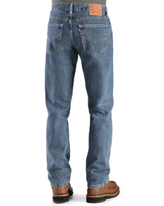 Levi's Men's 505 Prewashed Regular Straight Leg Jeans, Stonewash, hi-res