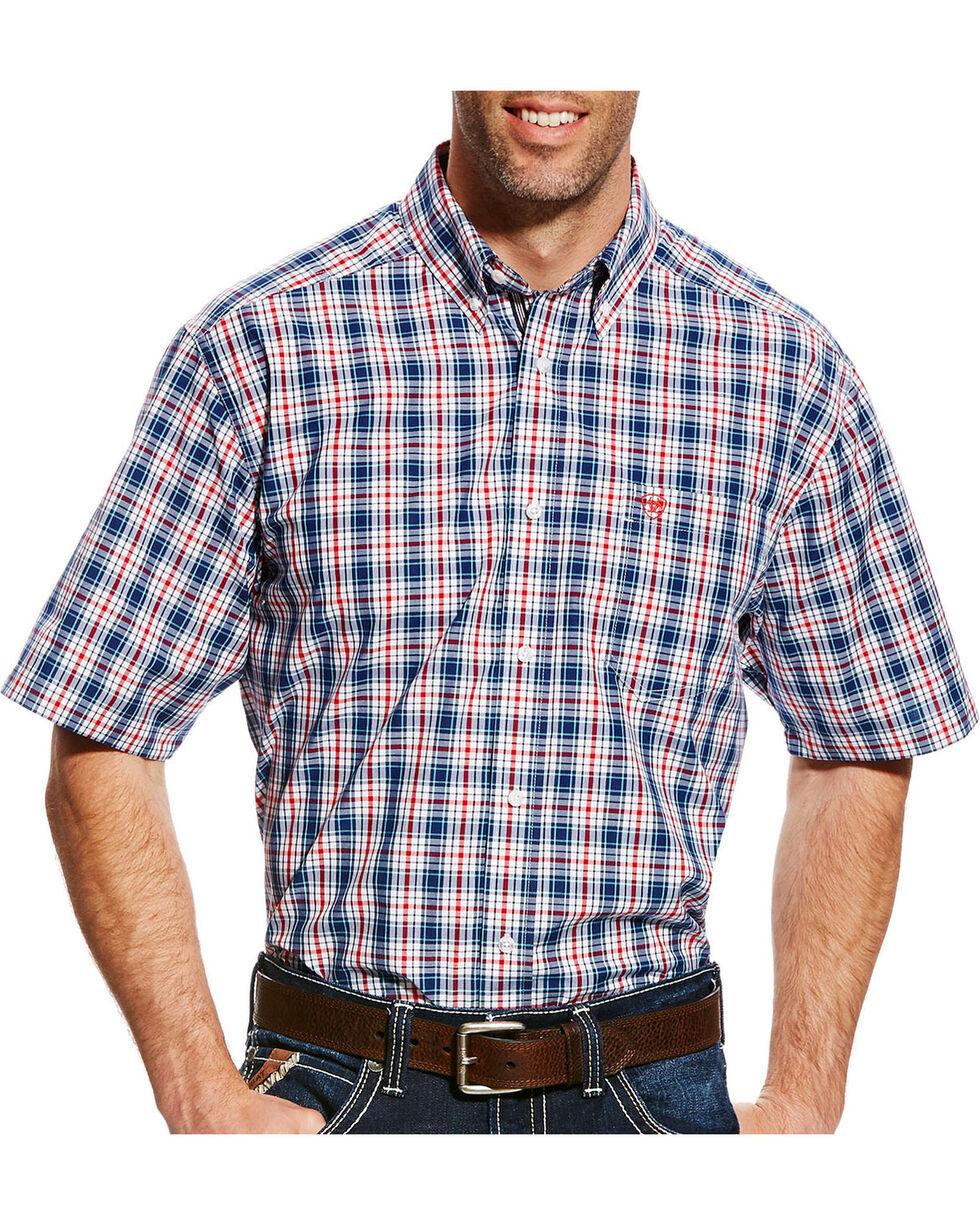 Ariat Men's Gerald Plaid Short Sleeve Shirt - Tall , , hi-res