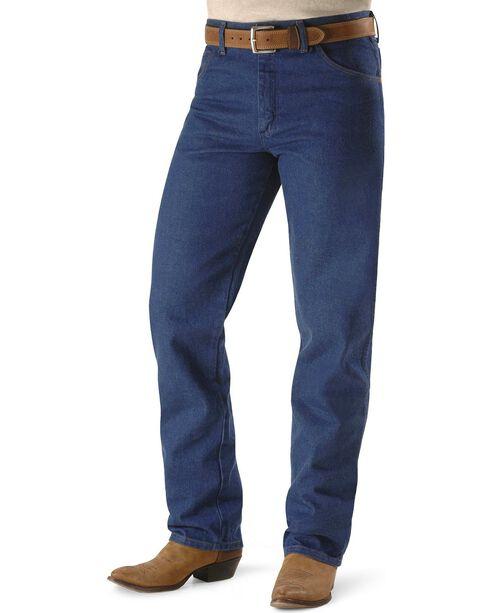 "Wrangler Jeans - 31MWZ Relaxed Fit Prewashed Denim - 38"" Tall Inseam, Indigo, hi-res"
