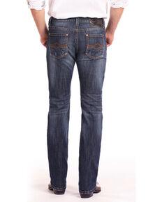 Rock & Roll Cowboy Men's Reflex Revolver Abstract V Straight Jeans , Blue, hi-res