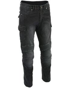"Milwaukee Leather Men's Black 32"" Aramid Reinforced Straight Cut Denim Jeans, Black, hi-res"