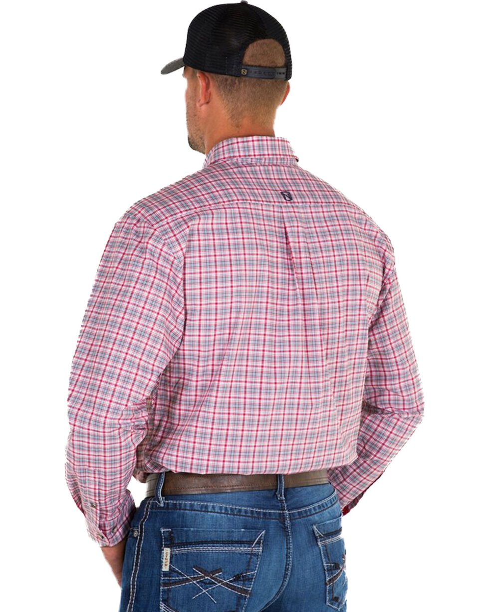 Noble Outfitters Men's Red Generations Find Line Plaid Shirt , Red, hi-res