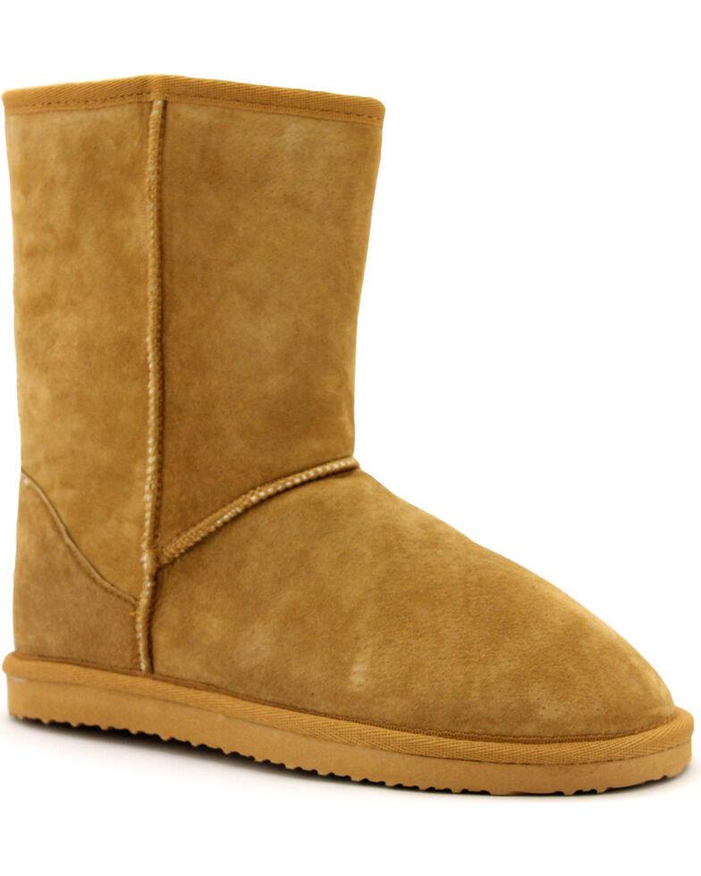 "Lamo Footwear Women's 9"" Classic Suede Boots, Chestnut, hi-res"