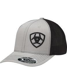 4ca063ad2d5b1 Ariat Mens Grey Contrasting Shield Baseball Cap