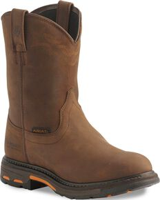 Ariat H2O Workhog Western Work Boots - Soft Toe, Distressed, hi-res