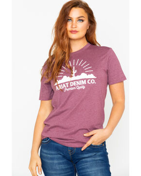 Ariat Women's Desertscape Short Sleeve T-Shirt, Burgundy, hi-res