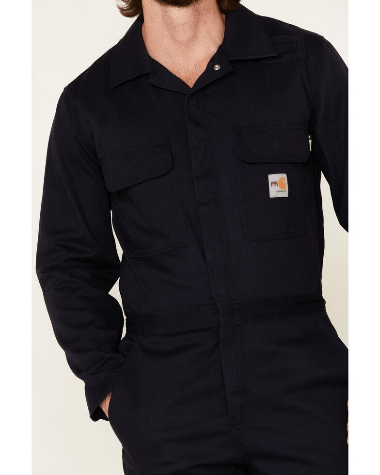 Carhartt Flame Resistant Classic Twill Coveralls, Navy, hi-res