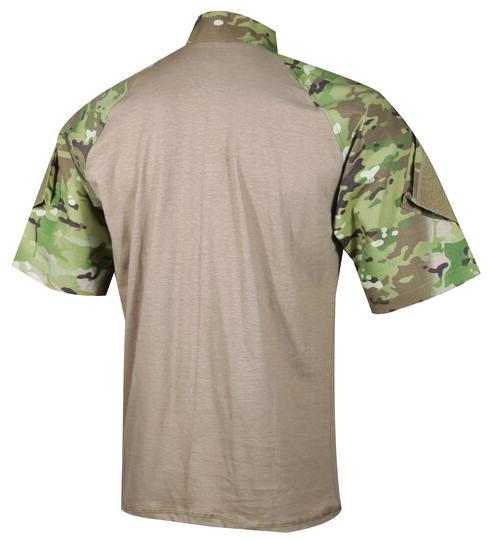 Tru-Spec Men's Tan and Camo TRU Combat 1/4 Zip Shirt, Multi, hi-res