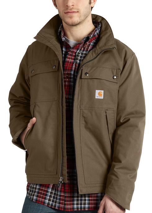 Carhartt Quick Duck® Jefferson Traditional Jacket, Brown, hi-res