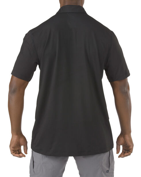 5.11 Tactical Odyssey Short Sleeve Polo Shirt, Black, hi-res