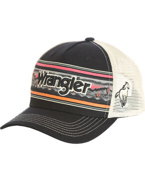 Wrangler Men's Wordmark Cap , Black, hi-res