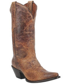 Dan Post Women's Tan Colleen Vintage Leather Western Boot - Snip Toe , Tan, hi-res