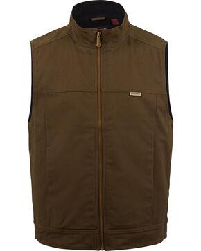 Wolverine Men's Dark Brown Caleb Canvas Vest , Dark Brown, hi-res