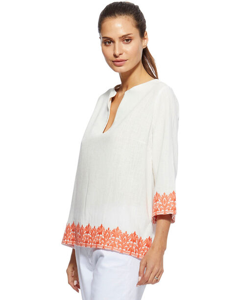 Angel Premium Women's White Jan Top , White, hi-res
