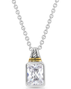 Montana Silversmiths Women's Two Tone Brilliance Necklace, Silver, hi-res
