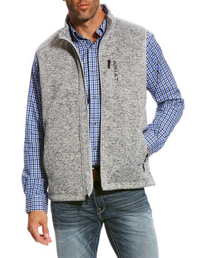 Ariat Men's Heather Grey Caldwell Full Zip Vest , Heather Grey, hi-res