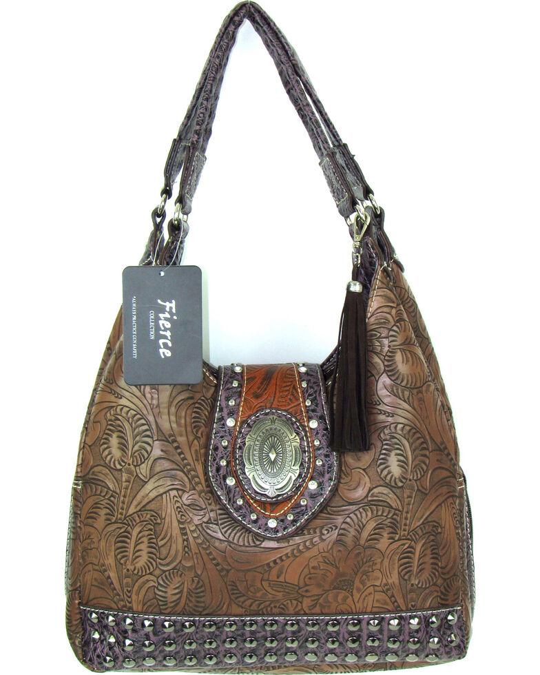 Savana Women S Fierce Tooled Design Conceal Carry Purse Hi Res