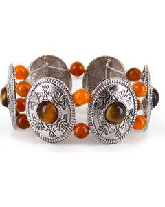 Shyanne® Women's Western Engraved Bracelet, Brown, hi-res