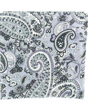 Paisley Silk Wild Rag, Grey, hi-res
