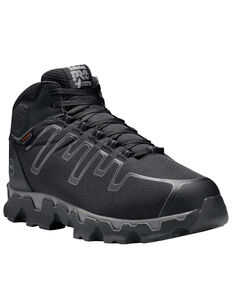 Timberland Men's Powertrain Alloy Toe Ripstop Work Boots, Black, hi-res